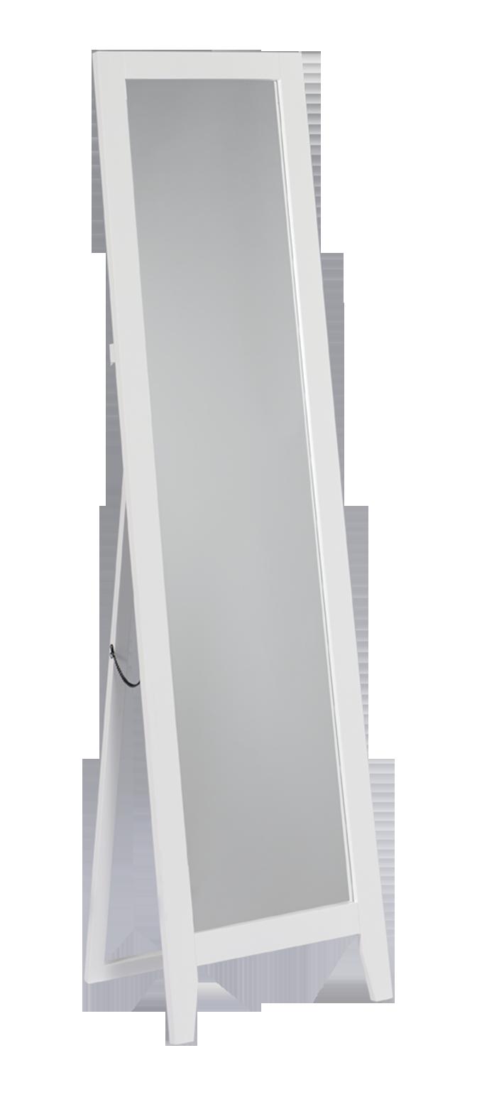 Laurel Freestanding Floor Mirror White 2kfurniture